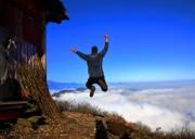 【清明佳节*  彭州天台山徒步穿越1日游】穿越彭州小天台山  一品鲜嫩雪芽菜