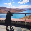 美丽的高原水世界羊湖