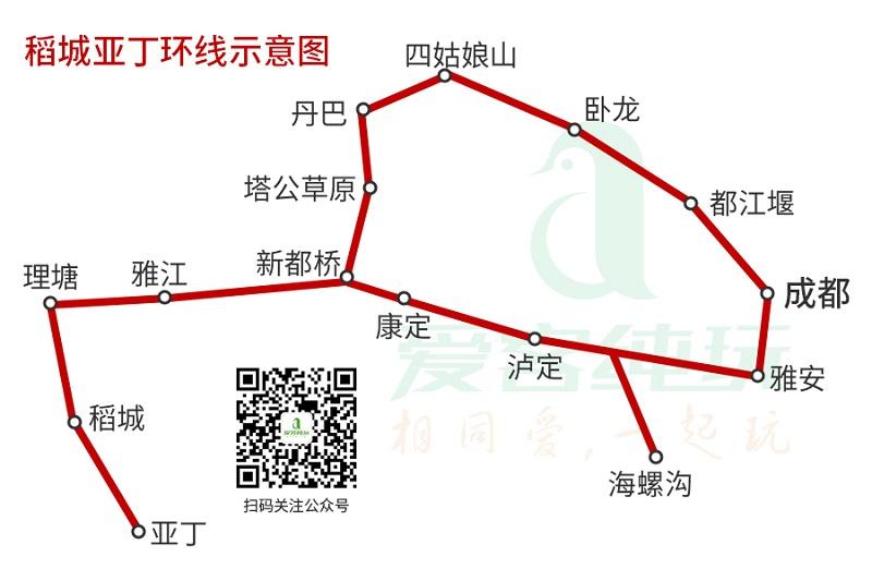 稻城亚丁环线示意图(190301)