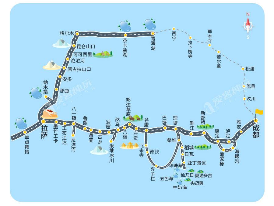 川进青出线路图