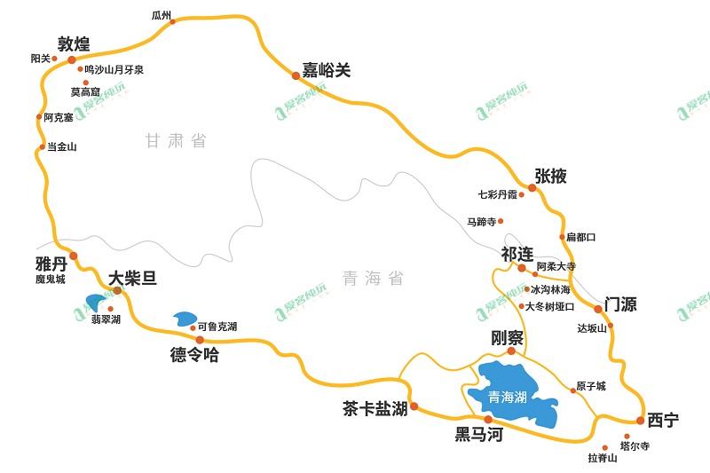 青海自驾游线路