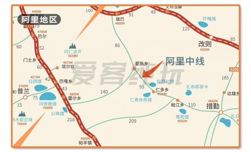 川藏线旅游地图
