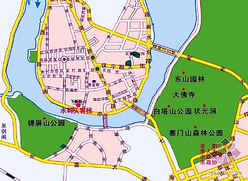 四川阆中古城地图