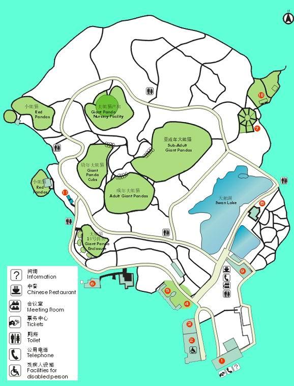 熊猫基地景区路线图