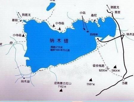 西藏旅游景点地图