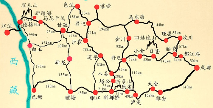 川西大环线有哪些景点?
