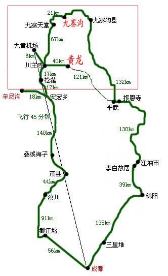 黄龙机场到九寨沟怎么走?