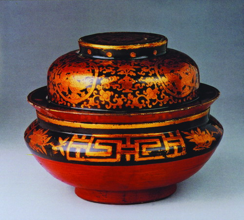 藏式木盒,木茶碗