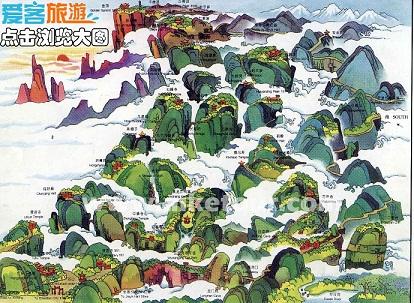 峨眉山景区地图