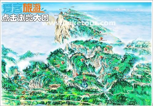 峨眉山旅游地图
