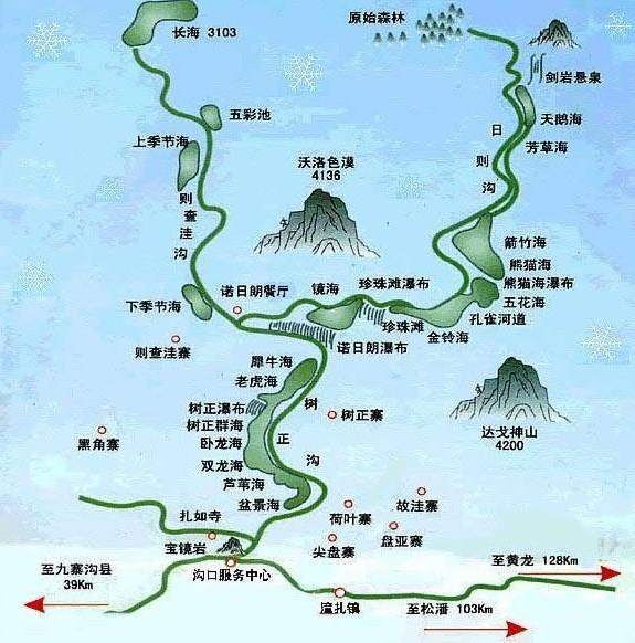 九寨沟景区地图