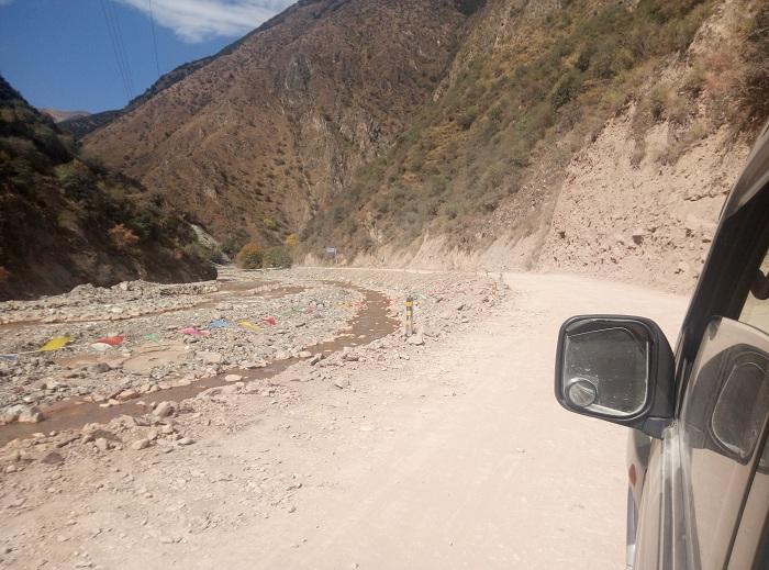 川藏线自驾游-海通沟段路况